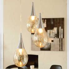 Orb trio glass pendant light