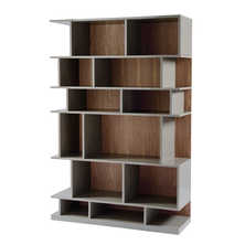 Step shelving stone and walnut