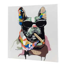 Gangster dog canvas
