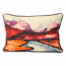 Scenic cushion red