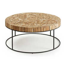 Mosaic coffee table round