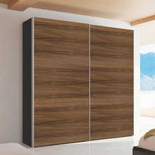 Loft two door sliding wardrobe walnut