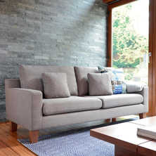 Ankara three seater sofa light grey