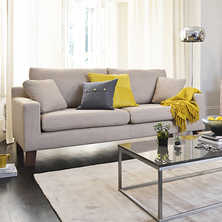 Ankara three seater sofa fawn