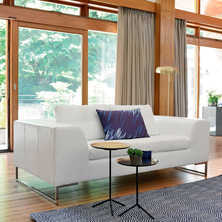 Vienna two seater sofa white