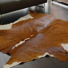 Cowhide rug brown