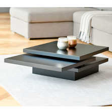 Rotate square coffee table black