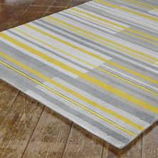 Geo stripe rug large yellow