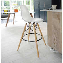 Eiffel bar stool white