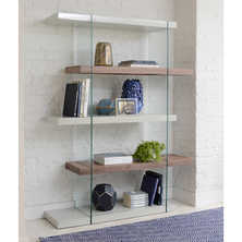 Treble tall shelving light grey and ...