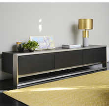 Nox three doors TV unit chocolate oak