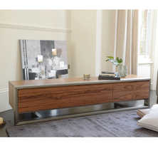 Nox three doors TV unit walnut
