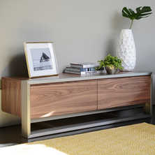 Nox two doors TV unit walnut