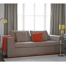 Seville sofa bed three seater mocha