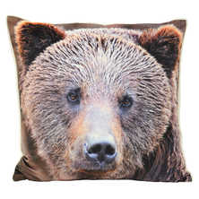 Sherpa bear cushion