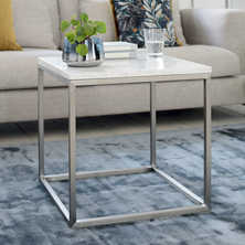Marble side table white