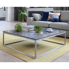 Marble square coffee table grey
