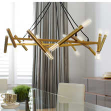 Dash pendant light brass
