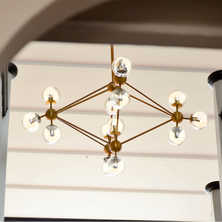 Cluster pendant light brass 15 bulbs