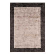 Lancet border rug silver and charcoal large