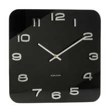 Proto wall clock black glass