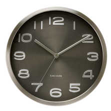 Shimmer wall wall clock black