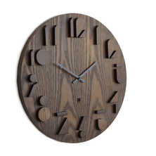 Shadow wall clock dark
