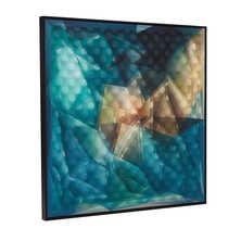 3D abstract art blue