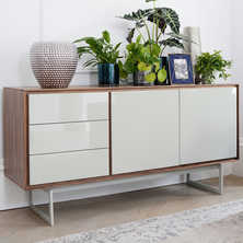 Ludlow sideboard walnut and light grey