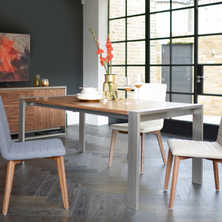 Nox extending dining table walnut