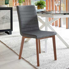 Parquet dining chair grey