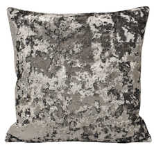 Crush square cushion grey