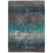 Stripe contrast rug medium turquoise