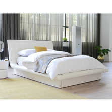 Kingsley bed with storage king white