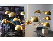 Spider pendant light brass