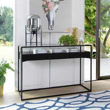 Drift console table darkwood