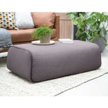 Stockholm footstool long grey