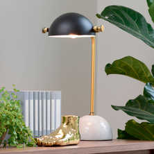Marble spherical base table light