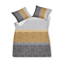 Geometric stripe duvet set with housewife pillowcase double