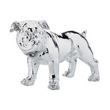Chrome bulldog figure