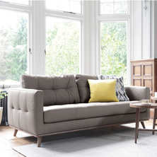 Marseille leather three seater sofa ...