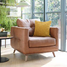 Marseille leather armchair tan