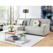 Bilbao left hand corner modular sofa light grey