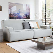 Bilbao three seater modular sofa grey