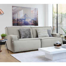 Bilbao two seater modular sofa grey