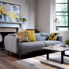 Valletta three seater sofa dark grey