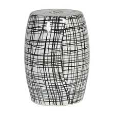 Monochrome ceramic stool