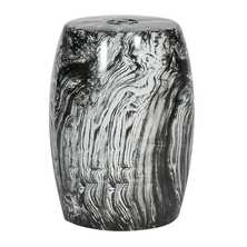 Marble effect ceramic stool