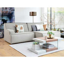 Bilbao right hand modular corner sofa light grey