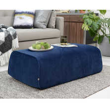 Stockholm footstool long midnight blue